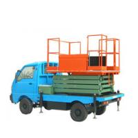 China Mobile truck mounted scissor lift , truck mounted lifting equipment for work shop wholesale