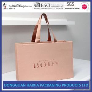 China Glossy Laminated Kraft Paper Shopping Bags Custom Color Gift Shopping Bag wholesale