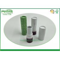 China Eco Friendly Cardboard Lipstick Tubes , Brown Paperboard Push Up Lip Balm Tubes wholesale
