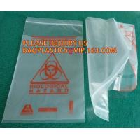 China Biohazard Specimen Bag ZIP LOCK, Certificated Zip Lock Reclosable Lab Bag, biohazard zip top specimen bag for lab file on sale