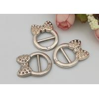 China Fashion Accessories Plastic Shoe Buckles With Bow , Decorative Shoe Buckles wholesale