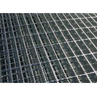 China Stair Tread Q235 Serrated Steel Grating , Serrated Bar Grating For Twisted Bar Walkway wholesale