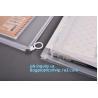 China portable transparent flat bottom slider ziplock bag for cosmetic, Food grade Coex PP Slider Zipper bag, PVC Slider Zippe wholesale