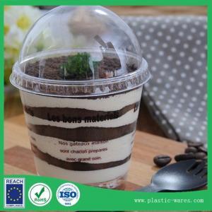 China transparent plastic disposable mousse cup  Tirfeelisu cup 180ml wholesale