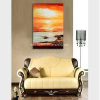 China Hand Painted Abstract Acrylic Painting Landscape Wall Art For Home Decor wholesale