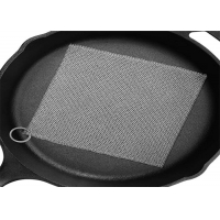 China Ring Mesh Chainmail Cast Iron Scrubber For Brushing Pot wholesale