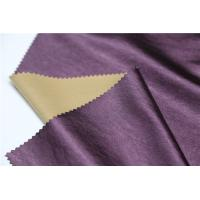 China Shining Synthetic Leather Material , 0.4mm Leather Look Polyester Fabric on sale