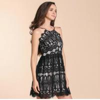 China 2019 New Fahion Mini Dress with Contrast Lace wholesale