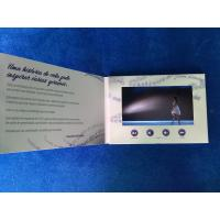 China Exceptional quality Digital innovation  7'' lcd screen video business card video invitation card with button control wholesale