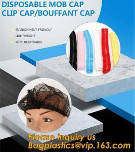 Disposable MON CAP, CLIP CAP,BOUFFANT CAP,medical disposable surgical head caps,nonwoven mob cap,hair net NURSE CAP, MED