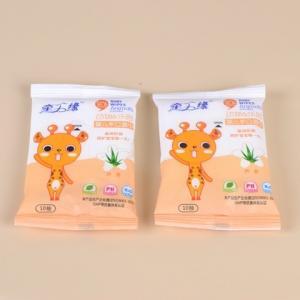 China china wholesale10pcs non-woven alcohol free Ph-balance baby wet tissue/wet napkins on sale