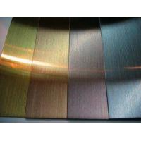 China 201 /304 Stainless Steel Sheet hairline finish with black/bronze/rose PVD color wholesale