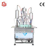 Aerosol Can Body Spray Filling Machine , 3 In 1 Aerosol Bottle Filling And Capping Machine Manufactures
