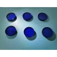 China blue colored sapphire lens for watch case glass surface/ color sapphire glass optical lens wholesale