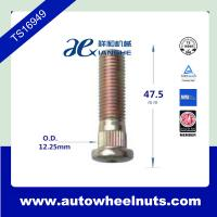 China Zinc Plated Wheel Knurl Studs Press In 12mm x 1.50 Thread 12.25mm Knurl Part # XH-209 wholesale