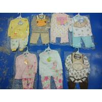 China Brand new in stock cotton baby clothes discount infant outfits stock-lot  3 piece sets spring cute clothes for 24M kids wholesale