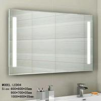 China Audio Smart wall mounted lighted makeup mirror waterproof 3.5mm 5mm thickness wholesale