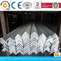China MS equal /unequal black & galvanized steel angle bar wholesale