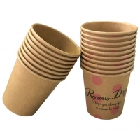 China Wholesaler good Kraft paper tasting cup,100ml small-capacity paper cup for promotion wholesale