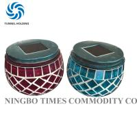 China Glass Mosaic Solar Lights , Merry Nine Solar Powered Color Changing LED Lights wholesale