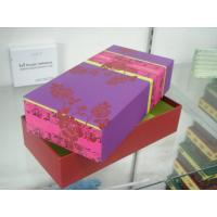 China Cardboard Packaging Boxes With Lid , Paper Gift Towel Box 10 * 5 * 4 Inch wholesale