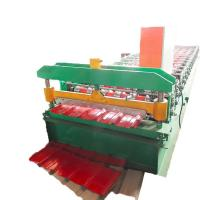China Hydraulic Galvanized Steel Roof Tile Making Machine 5T Carrying Capacity High Speed on sale