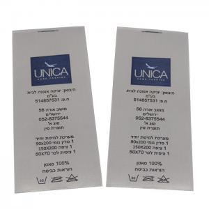 China Garment Hand Wash Care Symbols Custom Printed Clothing Labels Offset Printing on sale
