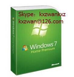 China 32bit x 64 bit genuine windows 7 home premium retail box original Fpp Keys wholesale
