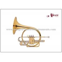 China Piston Valves Brass Musical Instruments Lacquered French Horn Music Instrument wholesale