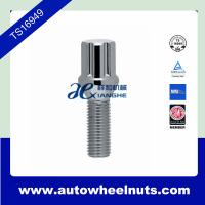 China 10.9 Grade Alloy Wheel Spline 12 X 1.5 Lug Bolt Wheels Locks Bolts and Key wholesale