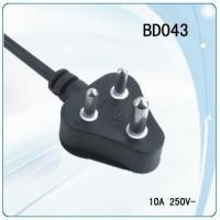 China South Africa 3 pin power cord with switch for desk lamp wholesale