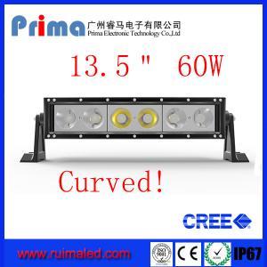 "Quality 13.5"" 60W Curved Cree Led Light bar-Single Row Led Light Bar for sale"