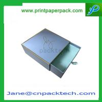 China Custom Printed Colorful Rigid Cardboard Boxes Gift Boxes Drawer Type Boxes  Paper Box wholesale