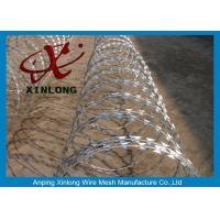 China Stainless Steel Razor Barbed Wire Mesh Fence 2.5mm Wire Diameter XLF-12 on sale
