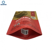 China Recyclable Foil Lined 200 microns Kraft Paper Coffee Bags on sale