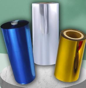 China Anti Fading Printing Film Coating PE Aluminium Foil Rolls , 8um Laminated Aluminum Foil wholesale