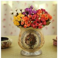 China pottery vase with flower painting wholesale