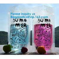 China Custom Clear Aluminum Foil Coffee Tea Packaging Side Gusset Flat Bottom Stand Up Pouch Bags With Ziplock wholesale