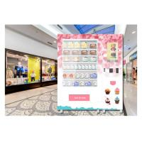China QR Code Payment Advertising Cupcake Bread Snack Vending Machine With Elevator System wholesale