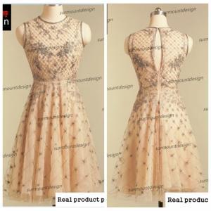 China Real Sample Sleeveless Round Neck Knee Length Mini Girl dress wholesale
