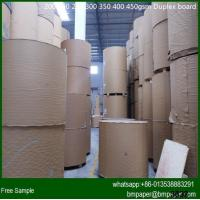China Recycled White Coated Duplex Board With Grey Back on sale