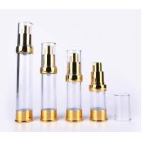 Quality Gold Plastic Cosmetic Packaging 15ml 30ml 50ml Airless Pump Bottle for sale