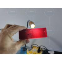 China Cr3+ doped ruby crystal optical lens block /colored sapphire glass plates wholesale