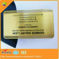 China 0.5mm thickness gold plated brass metal card wholesale