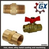 China Cast NPT Full Port Private Label on Handle Two Ways Brass Ball Valve wholesale