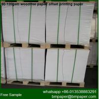 China Top Quality Nature White Color 60gsm Printing Paper/Book Paper wholesale