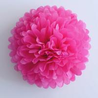 China Hot Pink Party Decoration Paper Flower Tissue Paper Pom Poms Balls Craft wholesale
