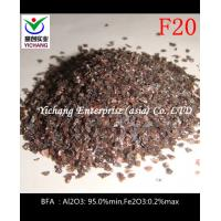 China Brown Fused Alumina with no free silica for sandblasted abrasive to remove the rust and paint on sale