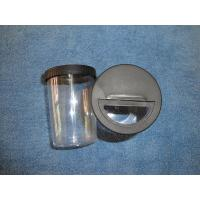 China Rotating Black Lid 200ml Plastic Clear Glitter Container wholesale