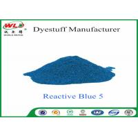 China Eco Friendly Textile Dyeing Of Cotton With Reactive Dyes C I Reactive Blue 5 wholesale